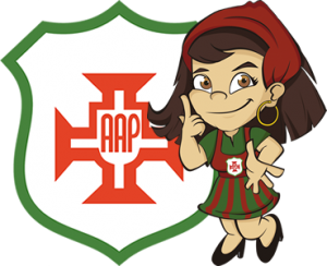 Símbolo da Portuguesa Santista e Cachopinha, a mascote da Briosa