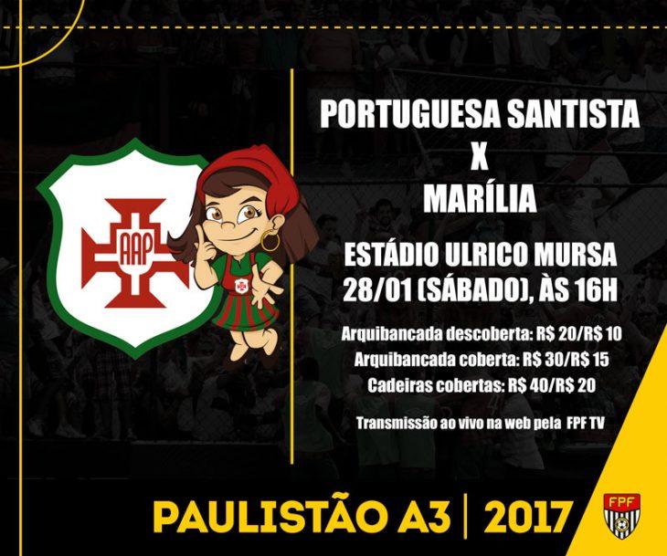 Portuguesa Santista e Marília
