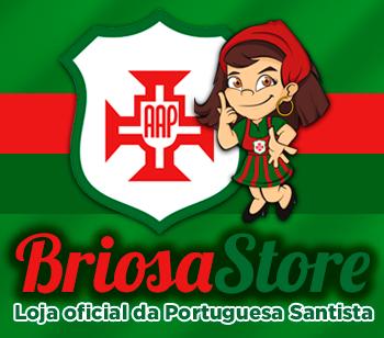 Banner da Briosa Store, loja oficial da Portuguesa Santista