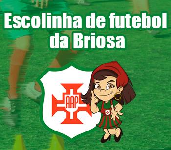 Banner da escolinha de futebol da Briosa